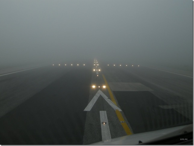 take off in fog